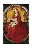 The Virgin and Child, Central Panel from a Triptych Giclee Print