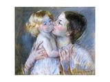 A Kiss for Baby Anne, 1897 Giclee Print by Mary Stevenson Cassatt