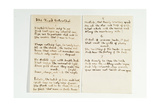 Manuscript of the Kind Betrothal, C.1866 Giclee Print by Gerard Manley Hopkins
