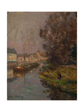 Fisherman at Douai Giclee Print by Henri Duhem