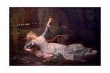 Ophelia, 1883 Lámina giclée por Cabanel, Alexandre