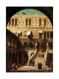 The Giants' Steps, Venice, 1765 Giclee Print by  Canaletto