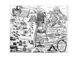 Map of Israel, from 'A Pisgah-Sight of Palestine' by Thomas Fuller, 1650 Giclee Print by William Marshall