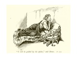 Robert Bruce and the Spider Giclee Print by Gordon Frederick Browne