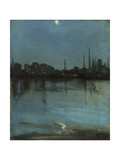 Battersea and the Thames from Chelsea, C.1890 Giclee Print by Theodore Roussel