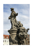 Saint Ivo of Kermartin, T.O.S.F. (1253-1303). Baroque Sculpture by Matyas Bernard Braun on Behalf… Giclee Print