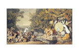 The Court of the Animals, Illustration of Canto IV of Goethe's 'Reineke Fuchs' Giclee Print by Johann Heinrich Wilhelm Tischbein