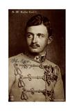 Ak S.M. Kaiser Carl I Von Österreich, Npg 6068, Husarenuniform Photographic Print