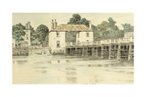 Putney Bridge, C.1890 Giclee Print by Walter Greaves