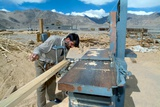 Construction of an Energy Efficient Building, Druk White Lotus School, Shey, Ladakh, India Photographic Print