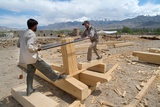 Construction of an Energy Efficient Building, Druk White Lotus School, Shey, Ladakh, India Photographic Print