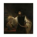 Aristotle (384-322 BC) with a Bust of Homer, 1653 Giclee Print by  Rembrandt van Rijn