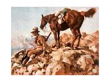 Australian Light Horseman, Allenby's Desert Campaign, 1914-18 Giclee Print by George Washington Lambert