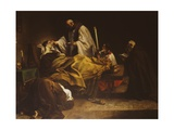 The Death of Saint Margaret of Cortona Giclee Print by Marco Benefial
