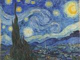 Vincent van Gogh - The Starry Night, June 1889 Digitálně vytištěná reprodukce
