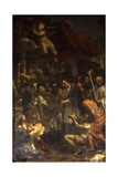 Saint Charles Carrying the Holy Nail in Procession During the Plague Giclee Print by Pietro Da Cortona