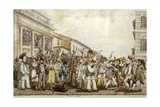 Carnival in Rome, 1830 Giclee Print by Achille Pinelli
