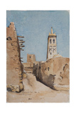Minaret of Sidi Okba, 18th April 1889 Giclee Print by Henri Duhem