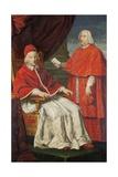 Pope Clement Xii with Nero Maria Corsini Giclee Print by Pietro Paolo Cristofari