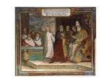 Pope Paul III Blessing His Nephew Horace Farnese Giclee Print by Taddeo Zuccari