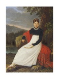 Portrait of Queen Maria Carolina of Naples Giclee Print by Giuseppe Cammarano