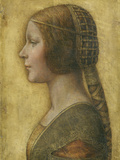 Profile of a Young Fiancee Reproduction procédé giclée par  Leonardo da Vinci