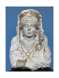 The Beauty of Palmyra. C. 190-210 A.C. Limestone. Carlsberg Glyptotek Museum. Copenhagen. Denmark Giclee Print