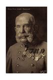 Ak Kaiser Franz Josef I., Portrait, Orden Und Abzeichen, Wohlfahrt Papier Photo