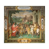 The Meeting of Holy Roman Emperor Charles V and Alessandro Farnese in 1544 Giclee Print by Taddeo Zuccari