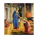 The Annunciation, Carafa Chapel, Santa Maria Sopra Minerva, Rome, 1488-93 Giclee Print by Filippino Lippi