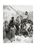 Don Quixote, Sancho and the Princess Dorotea, from Don Quixote by Miguel De Cervantes Lámina giclée por Dore, Gustave