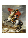 Napoleon Crossing the Grand Saint-Bernard Pass, 20 May 1800, 1802 Giclée-tryk af Jacques-Louis David