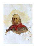 Portrait of Garibaldi, 1876 Giclee Print by Domenico Induno