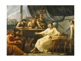 Caesar Dictating His Commentaries Giclee Print by Pelagio Palagi