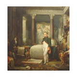 Napoleon in His Office Giclee Print by Etienne-barthelemy Garnier