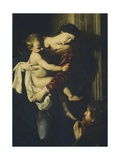 Detail from Madonna of Loreto, C.1606 Giclee Print by Michelangelo Merisi da Caravaggio