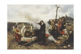 Joanna of Castille at the Funeral of Her Husband Giclee Print by Francisco Pradilla Y Ortiz