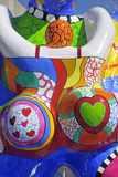 Detail of Lifesaver Fountain by Niki De Saint Phalle, Duisburg, Germany Photographie