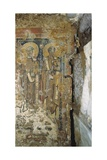 Wall Painting from the Crypt of the Popes, Catacombs of San Callisto, Rome Giclee Print