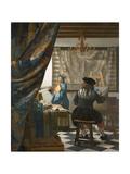 The Artist's Studio, C.1665-66 Giclée-Druck von Jan Vermeer