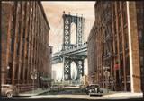 View to the Manhattan Bridge, New York City Posters by Matthew Daniels