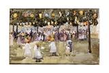 Central Park, New York City, July 4th Giclee Print by Maurice Brazil Prendergast