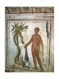 Hercules in the Garden of the Hesperides, Catacombs of Via Latina, Rome Giclee Print