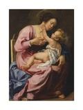 Madonna med barnet Giclée-tryk af Artemisia Gentileschi