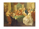 The Marriage Contract Giclée-tryk af Gaspare Traversi