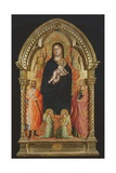 Madonna and Child Enthroned with Saints Catherine and Giuliano and Angels Giclee Print by Bicci di Lorenzo