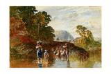 Crossing the Stream, C.1840-80 Giclee Print by George Haydock Dodgson