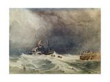 A Shipwreck Near a Jetty, 1837 Giclee Print by Anthony Vandyke Copley Fielding