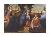 Sacra Conversazione Giclee Print by Jacopo Palma