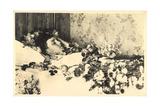 Foto Ak Prinz Luitpold Von Bayern Wittelsbach Aufgebahrt Mit Blumen Reproduction photographique